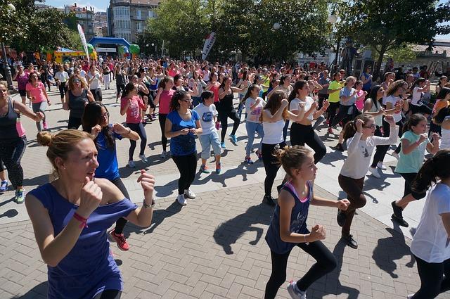 cvičení na ulici