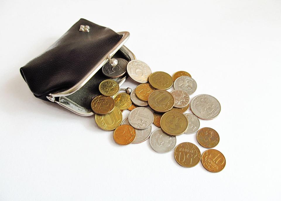 vysypaná peněženka
